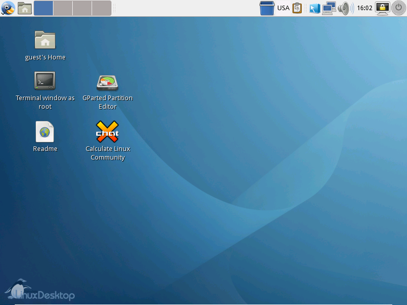 Рабочий стол Calculate Linux Desktop GNOME 10.4
