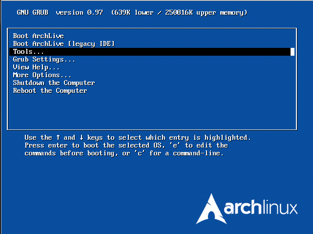 Обзор Arch Linux 2008.06: Overlord